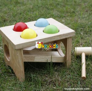 Most popular preschool pound bench wooden educational toys for babies W11G031