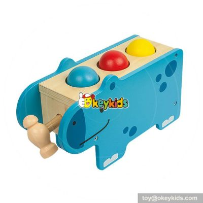 Most popular preschool pound bench toy wooden educational toys for toddlers W11G033