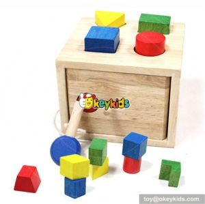 Most popular preschool pounding bench with hammer wooden best toddler toys W11G003