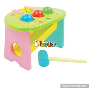 Most popular preschool pounding bench wooden best educational toys for toddlers W11G016