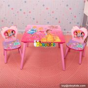Best design Mickey mouse bedroom furniture wooden baby table and chairs W08G150