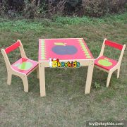 Best design bedroom furniture children studying wooden table and chair set for kids W08G159