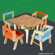 High quality bedroom furniture wooden kids chair and table set W08G179