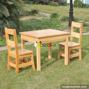 High quality bedroom furniture solid wooden table and chairs for children W08G172