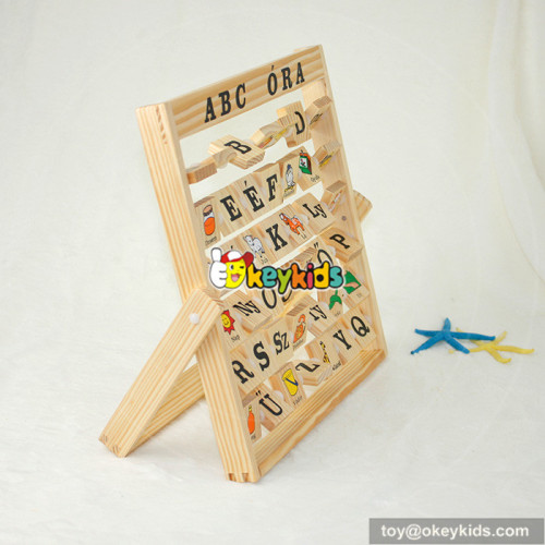 Top fashion toddlers educational toy wooden alphabet abacus W12C005