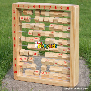 New design toddlers preschool learning toy wooden alphabet abacus with letter and number tiles W12C006