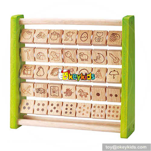 New design toddlers preschool learning toy wooden alphabet toys W12C007