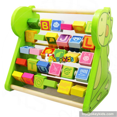 New design toddlers preschool learning toy wooden alphabet toys W12C009