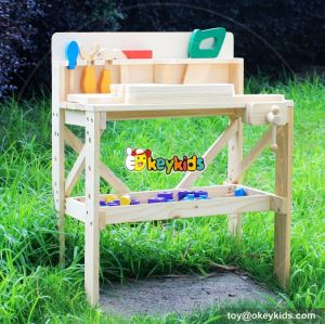 Best design educational children wooden tool toy workbench W03D022