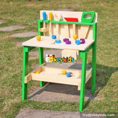 Okeykids Best design educational toy wooden kids workbench W03D057