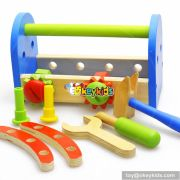 Best design educational toy diy wooden kids tool box W03D068