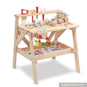 Best design children educational wooden toy workbench W03D041