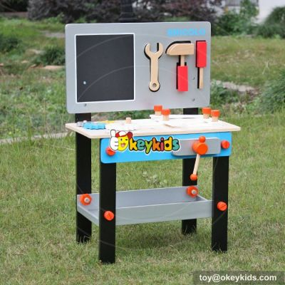 Best design children educational play building set wooden toy workbench W03D070
