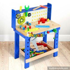 Best design make playtime fun children wooden workbench toy W03D073