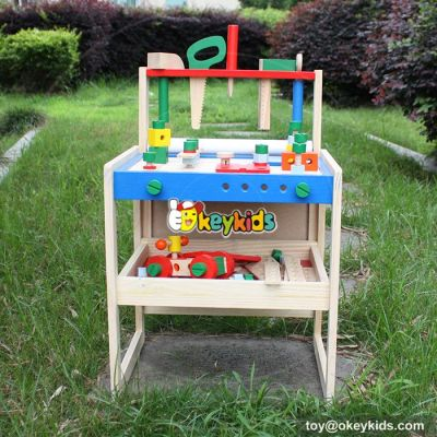 Best design make playtime fun wooden workbench for toddlers W03D069