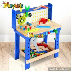 Best design large play builder wooden children toy workbench W03D073