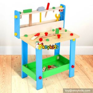 Best design large play builder toddlers wooden play workbench with tools W03D072