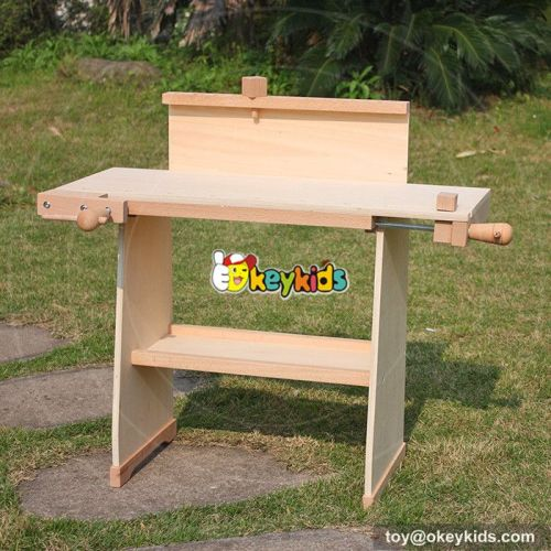 Best design large play builder toddlers wooden workbench toy W03D059