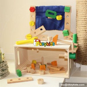 Best design large play builder children wooden tool workbench toy W03D033