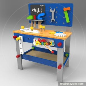 Best design large play builder wooden play workbench for toddlers W03D076A