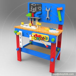 Best design large play builder wooden children's work benches with tools W03D076C