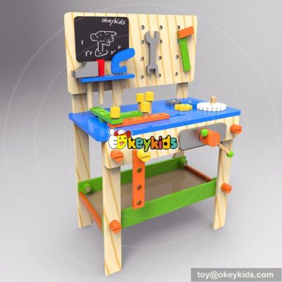 Best design large play builder wooden kids toy workbench W03D076D