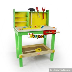 Best design children educational toy wooden tool table W13D013