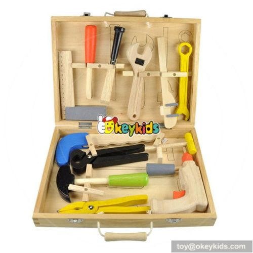 Top sale children educational tool set wooden toy box W03D018
