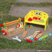 Best design educational toy wooden toddler tool set W03D060