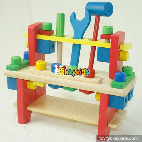 Best design educational toy wooden children tool set W03D024