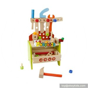 Best design educational toy wooden tool set for toddlers W03D067