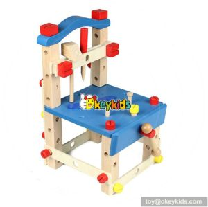 Best design multi-functional assemble toy wooden tool bench set for kids W03D025