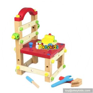 Best design multi-functional assemble toy wooden kids tool bench W03D026