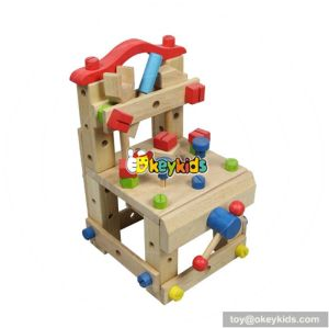 Best design multi-functional assemble children wooden toy tool bench W03D031