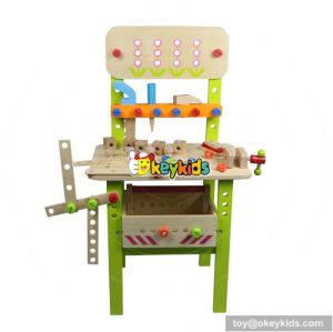 Best design multi-functional assemble kids wooden tool play set toy W03D029
