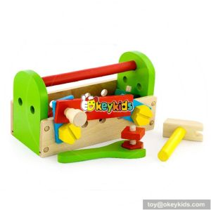 Hot sale educational assemble wooden baby tool set W03D032