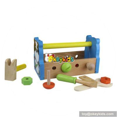 Best design children intelligence toys wooden boys tool box W03D027