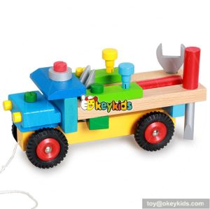 Best design intelligence toys wooden toy drill for toddlers W03C022