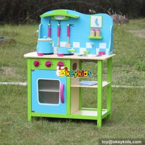 Okeykids New hot cooking play wooden kids kitchen set W10C181