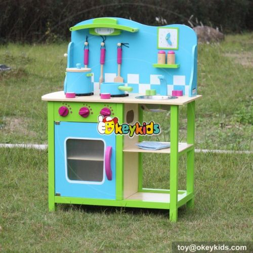 Okeykids New hot cooking play wooden kids kitchen set W10C181