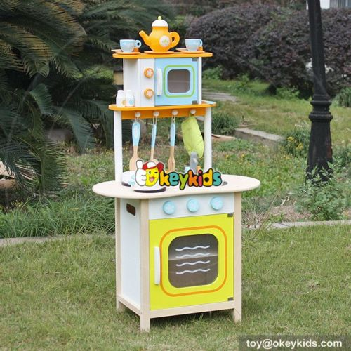 Okeykids Custom kitchen lifestyle educational toy wooden kids play kitchen W10C246