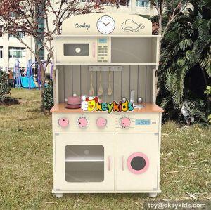 New design cooking play set wooden toddler kitchen set W10C268