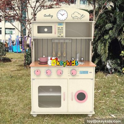 New design cooking play set wooden toddler kitchen set W10C268