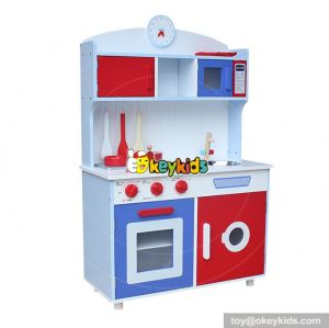 New design children cooking play set wooden kitchen toys W10C244