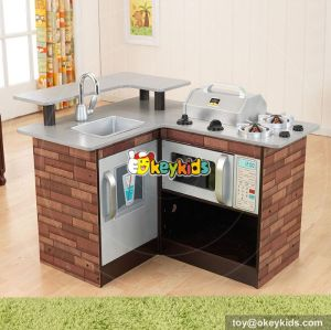New hot pretend play toy children wooden corner kitchen toy W10C258
