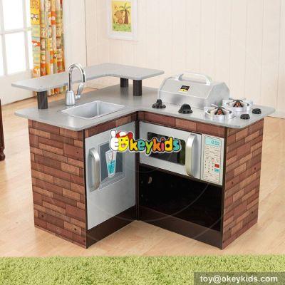 New hot pretend play toy children wooden corner kitchen toy W10C258