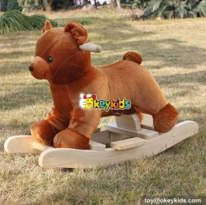 Top fashion cute plush stuffed rocking horse for toddlers W16D073