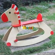 New hot comfortable baby wooden kids rocking horse for sale W16D088