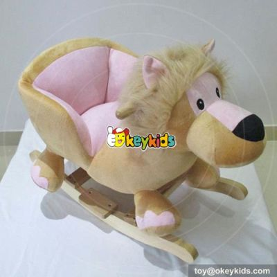 Manufacturer of interactive wooden baby rocking animal for sale W16D097