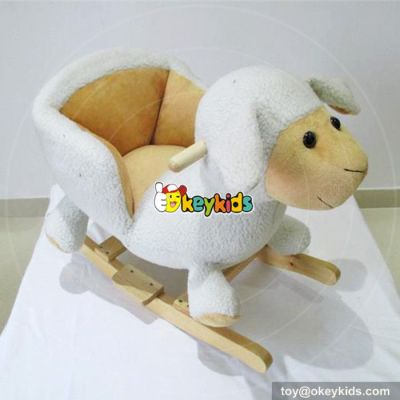 Manufacturer of funny wooden animal rocker for toddlers W16D098